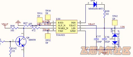 硬件电路如图使用的是nxp的tja1020